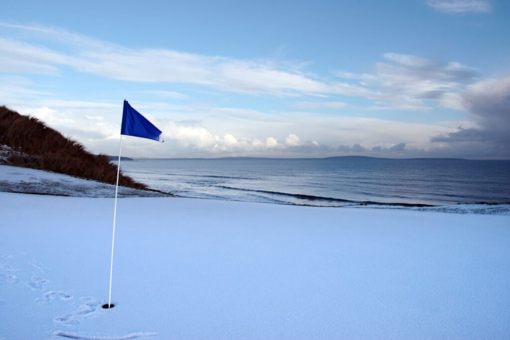 Golftraining im Winter