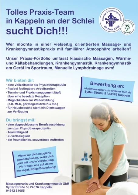 Mitarbeiter gesucht / Stellenangebot Physiotherapeut/in