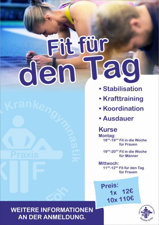 Sport- Physiotherapie Fitness Kurs in Kappeln